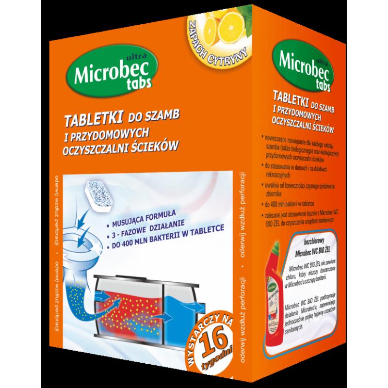 """Microbec tabs Засіб для  септиків, вигрібних ям та дворових туалетів """"BROS"""" 20 г етка)"""
