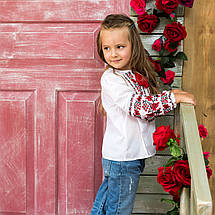Детская вышиванка для девочки Дубок красный, фото 3