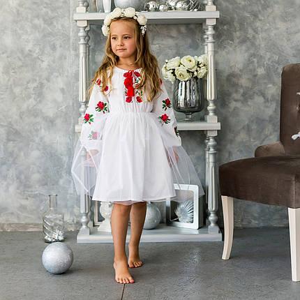 Детское платье вышиванка для девочки Розочка, фото 2