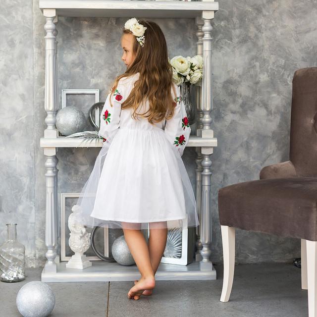 Детское платье вышиванка для девочки Розочка