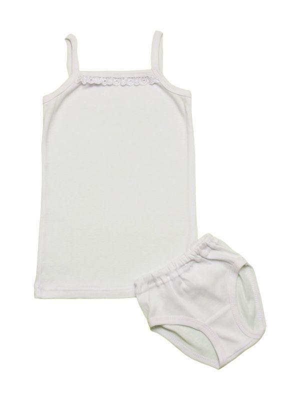 Комплект белого нижнего белья для девочки