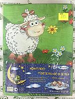 813 Детский комплект постельного в кроватку, бязь ТМ Тиротекс