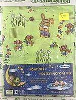 829 Детский комплект постельного в кроватку, бязь ТМ Тиротекс