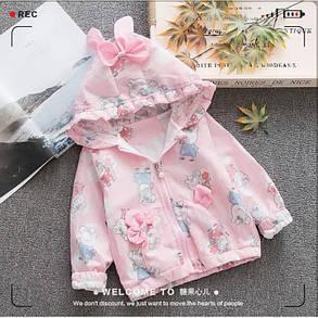 Ветровка детская для девочек розовая свинка Пепа, фото 2