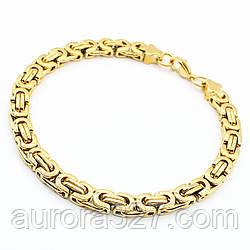 """Мужской браслет """"Noah"""" из медицинской стали под золото L-22.5 см"""