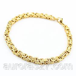 """Мужской браслет """"Liam"""" из медицинской стали под золото L-22 см"""