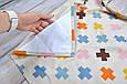 Накидка для кормления + сумочка-чехол, Плюсики, фото 4
