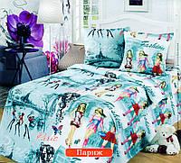 Подростковый комплект постельного белья Париж, бязь ГОСТ, фото 1
