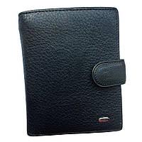 Мужской кожаный кошелек Dr. Bond. Портмоне. Черный., фото 1
