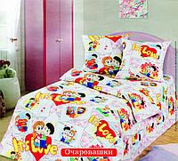 Постельное белье в детскую кроватку Очаровашки (бязь ГОСТ), фото 1