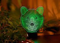 """Детский ночник - светильник """"Медведь"""" 3DTOYSLAMP, фото 1"""
