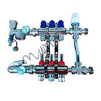 Коллектор для тёплого пола с трёхходовым клапаном SD 5 контуров