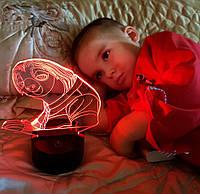 """Детский ночник """"Ленивец"""" 3DTOYSLAMP, фото 1"""