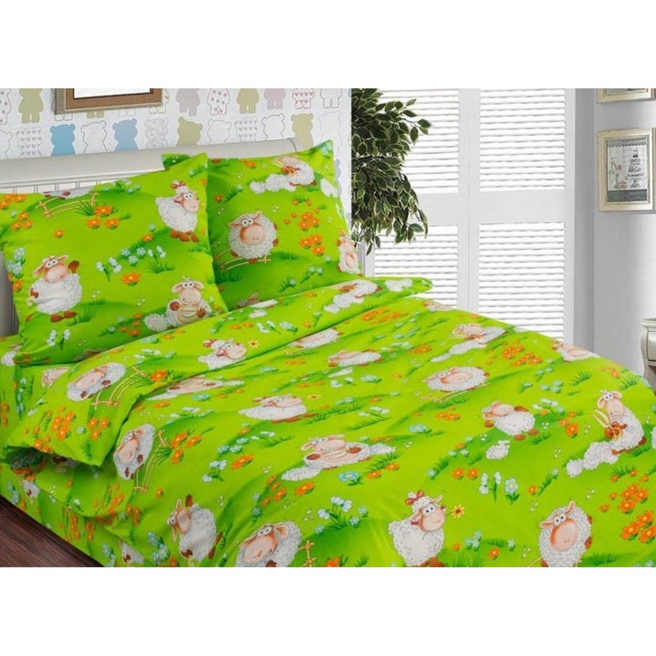Постельное белье в кроватку Веселая лужайка (поплин)