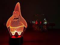 """Детский ночник - светильник """"Патрик"""" 3DTOYSLAMP, фото 1"""