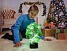 """Детский ночник - светильник """"Шрек"""" 3DTOYSLAMP"""