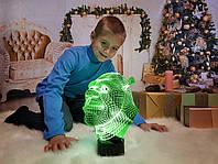 """Детский ночник - светильник """"Шрек"""" 3DTOYSLAMP, фото 1"""