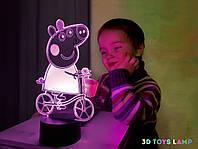 """Детский ночник - светильник """"Свинка Пэппа"""" 3DTOYSLAMP, фото 1"""