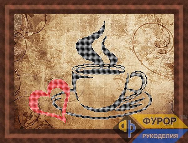 Схема для вышивки бисером картины Любимый кофе (НБч4-128)