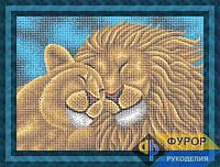Схема для вышивки бисером - Пара львов, Арт. ЖБп3-124