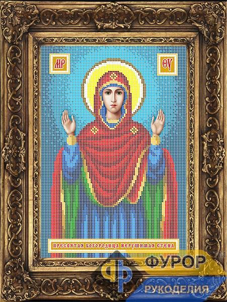 Схема для вышивки бисером иконы Пресвятая Богородица Нерушимая Стена (ИБ4-154-1)