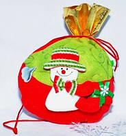 Новогодний мешок для подарков Снеговик