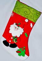Новогодний носок Игрушечный Дед Мороз
