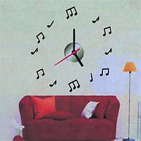 Объемные часы - наклейка Звуки Музыки