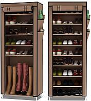 Тканевый шкаф-органайзер для обуви 30х60х160 см