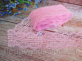 """Кружево """"Ракушка"""", 4,8 см, цвет розовый"""