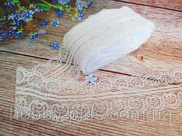 """Мереживо """"Ракушка"""", 4,8 см, колір білий"""