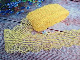 """Мереживо """"Ракушка"""", 4,8 см, колір жовтий"""