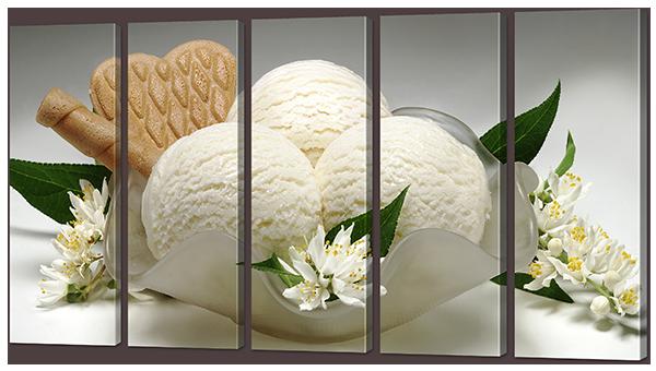 Модульная картина Мороженное и печенье