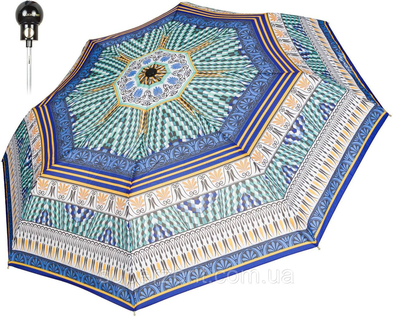 Зонт складной Perletti Mosaic 16239;8700, полуавтомат, синий