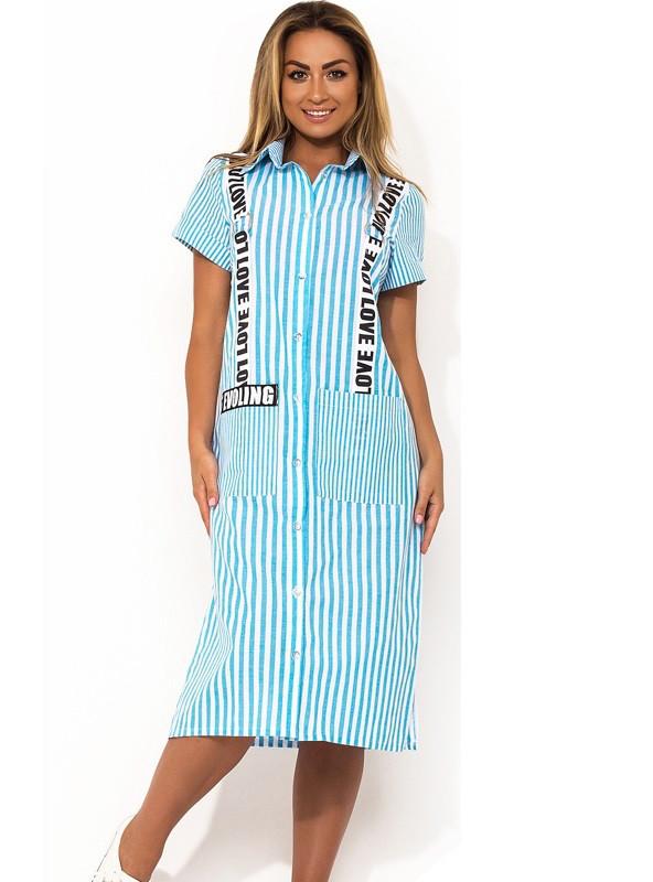 83d95da3150 Модное женское платье рубашка из коттона размеры от XL ПБ-151 - Lace Secret  -