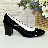 Туфли женские замшевые на устойчивом каблуке, фото 2
