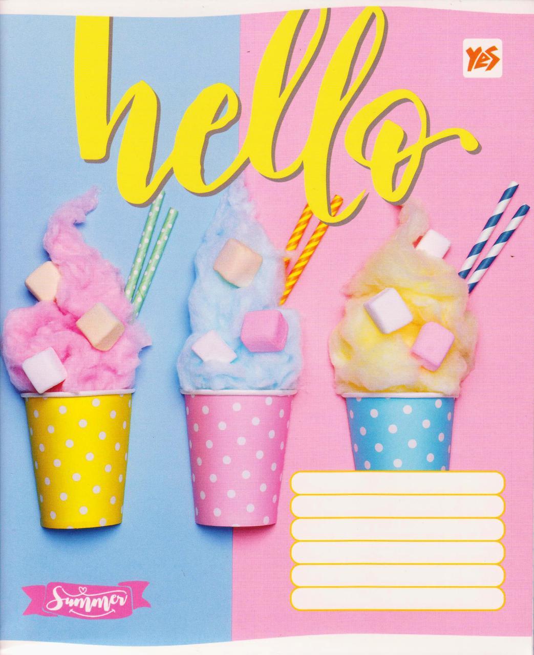 "Тетрадь школьная 96 л. клетка ""Hello ice-creame"" 762223"