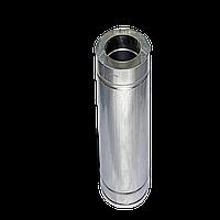 Труба дымоходная двустенная термоизоляционная в оцинкованном кожухе (1,0мм) L=0.5м Ø100/160