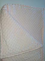 Плед плюшевый, персиковый 80х100см