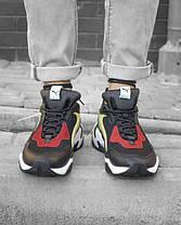 Чоловічі кросівки Puma Thunder Spectra Black/Yellow/White, фото 3