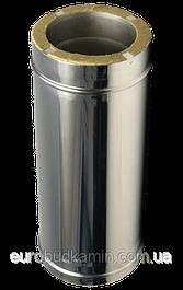 Трубы дымоходные двустенные термоизоляционные с нержавеющей стали толщина 1,0мм