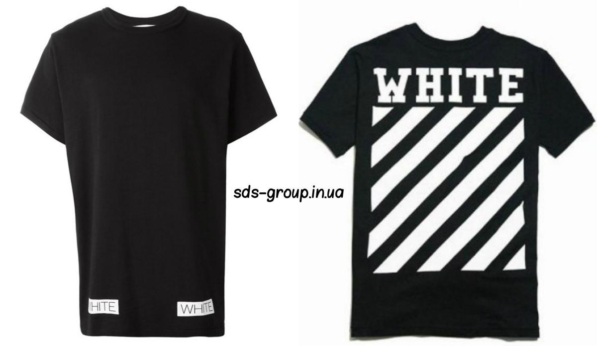 a7e1d808f8919 Футболка OFF WHITE черная с логотипом мужская,женская,детская, цена 390  грн., купить в Запорожье — Prom.ua (ID#750378004)