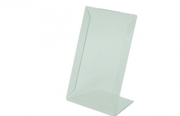 Подставка L-образная,ценникодержатель А4 пластиковый  210*300