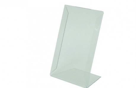 Подставка L-образная,ценникодержатель А4 пластиковый  210*300, фото 2
