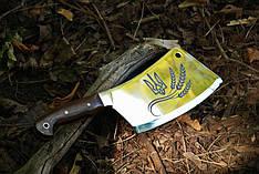 Нож секач ручной работы с лазерной гравировкой №2, 40Х13 (наличие уточняйте)