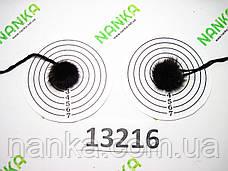 Меховой помпон Чернобурка, Тем. Фиолет, 2 см, пара 13216, фото 2