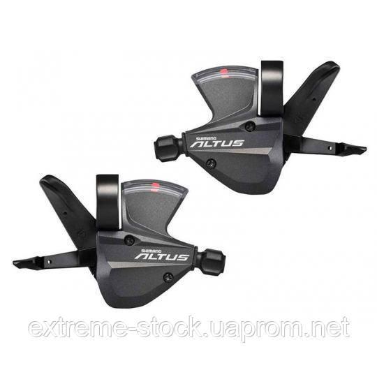 Манетки Shimano Altus SL-M370, 3x9, RapidFire Plus, передняя+задняя, с