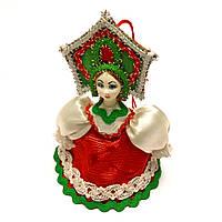 Новогодняя игрушка на елку Девушка в кокошнике