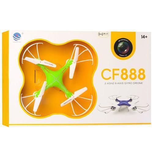 Радиоуправляемый квадрокоптер Drone с камерой и WIFI CF-888-3 Green