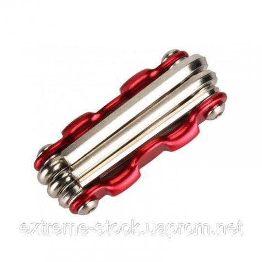 Мультитул SmartTools TL-6, шестигранники + отвертки, 6 в 1, красный